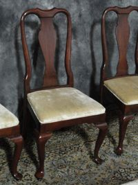 Set Georgian Court Dining Room Chairs Solid Cherry Ethan Allen