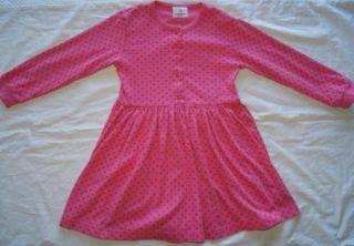 HANNA ANDERSSON GIRLS SZ 120 6 7 8 PINK RED POLKA DOT PLAY DRESS