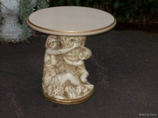 Pedestal for Statue Plant Stand Cherub Angel End Table Cottage
