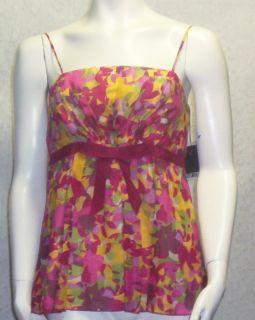 Anna Sui Anthropologie cotton silk print top 10 blouse Spring