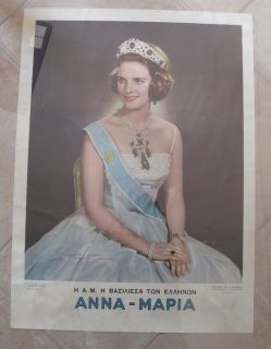 Royalty Greece Queen Anna Maria Poster 58x43cm