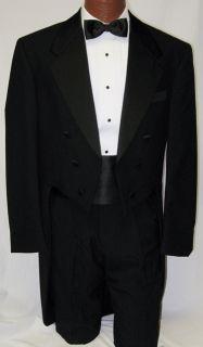Andrew Fezza Black Mozart Tuxedo Tailcoat 40R Free SHIP