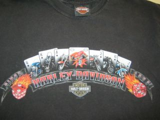 Angleton Texas Harley Davidson Motorcycles Bike Cards Fire Dice