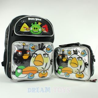 Angry Birds and King Pig 16 Large Backpack and Lunch Bag Set Box Boys
