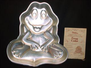 Wilton Frog Cake Pan Instructions Toad Metal Mold Animal Prince