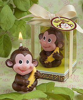 Monkey Candle Favors Wild Animal Themed Birthday Party Baby Shower