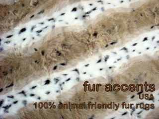 Rug Faux Fur Animal Accent Runner Fake Sheepskin Log Cabin Pelt New