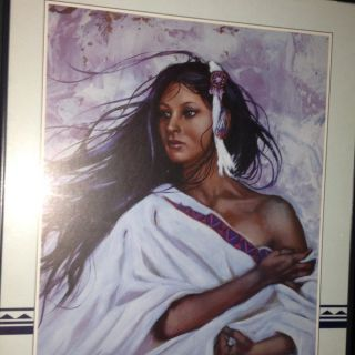 Indian Woman In White Picture By Penny Ann Ross Or Alawa sta we ches
