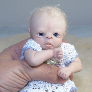 DREAMS OOAK MINI CLAY SCULPT Baby Girl Doll Reborn Artist Ruth Annette