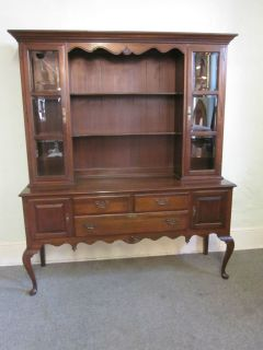 Ethan Allen Georgian Court Queen Anne Sideboard w China Closet