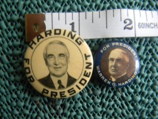 Warren G Harding for President Campaign Pins Great Shape