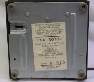 CDR Rotor AR 1 Control Box Antenna TV CB Ham Radio AR 22