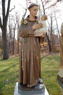Older church statue of St. Anthony + 52 tall +