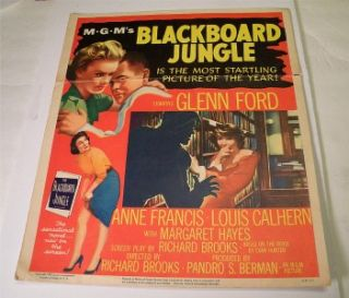 Blackboard Jungle Window Card 1955 Glenn Ford Anne Francis