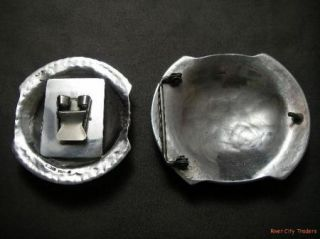 Marc Antia Apache Heavy Sterling Silver Bolo Buckle Set