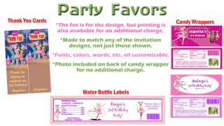 Angelina Ballerina Birthday Party Ticket Invitations Supplies and