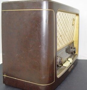 Vintage Grundig Majestic 1047 Table Radio Great Old German Tube Radio
