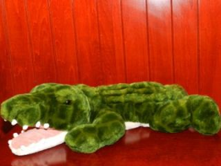 HTF Animal Alley Green White 21 Alligator Plush Stuffed Toy 2000 Toys