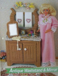 Antique Washstand Fashion Doll Plastic Canvas Pattern