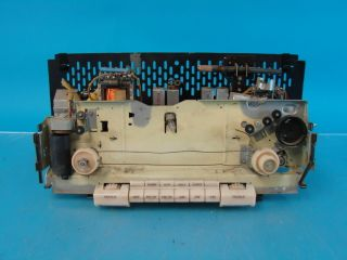 Loew Opta 11153 Antique Tube Radio Chassis w Pushbuttons Parts Repair