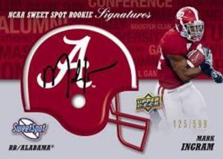 2011 Upper Deck Sweet Spot Mark Ingram Autograph Helmet Card