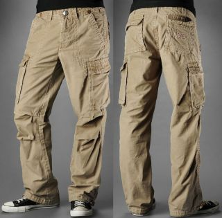 True Religion Brand Jeans Men Anthony Cargo Pants Wheat