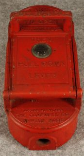Antique 1924 Gamewell Co., Newton, Massachusetts Cast Iron Fire Alarm