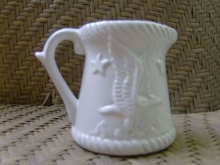 Antique Pottery Measuring Cup Eagle Stars Mountain 1Cup