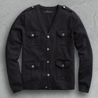 Marc Anthony Military Cardigan sweatshirt long sleeve size SMALL