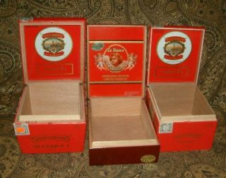 Gianna Wooden Cigar Boxes Purses Crafts Jewelry Gift Boxes Reds
