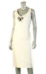 PAOLA ANTONINI LADIES FABULOUS IVORY SILK COTTON DRESS 46/12