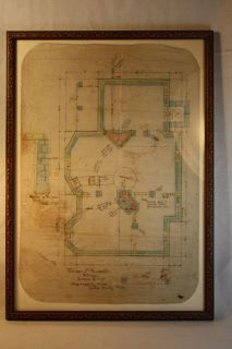 Victorian Architectural Floor Plan for Antigo Wi Home C 1885