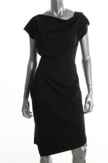Anne Klein Black Sleeveless Cowl Neck Wear to Work Dress 12 BHFO