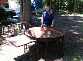 Antique Syrup Kettle Cast Iron Plus Sugar Cane Press