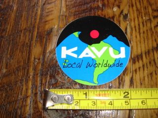 Kavu Clothing Pants Sticker Decal New Local Worldwide