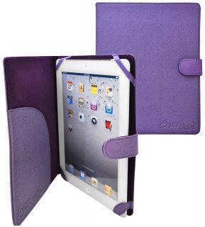 slim folio leather case for apple ipad 3 purple this crazyondigital