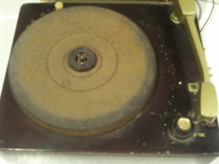Antique Vintage Columbia Portable Record Player Model 410 Works Needs