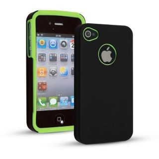 New Deluxe Green Black Apple Logo Hard Back Case Cover for iPhone 4 4S
