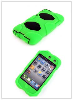 Green Soft Silicon Rubber Back Case Skin Cover for Apple iPod TOUCH4