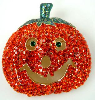 Kirks Folly Jack Flash Pumpkin Large Jack O Lantern Pin