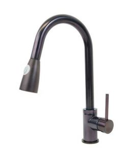 Rubbed Bronze Pull Out Sprayer Swivel Spout Kitchen Bar Sink Faucet