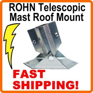 Telescopic Antenna Mast Roof Base Plate Mount Rohn