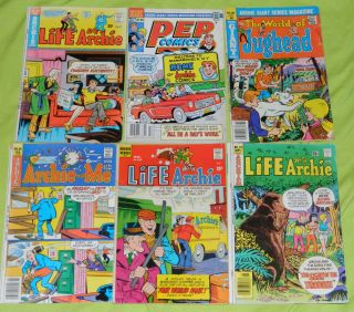 ARCHIE COMICS Comic Book Lot LIFE WITH JUGHEAD PEP Vintage Old Betty
