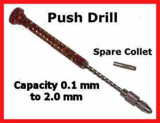 Jewelry Craft Hand Push Hole Mini Drill Pin Twist Spiral Archimedes