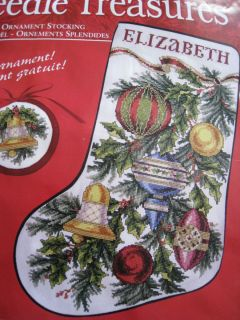 CHRISTMAS Counted Cross Stitch Stocking KIT DAZZLING ORNAMENTS Marchie
