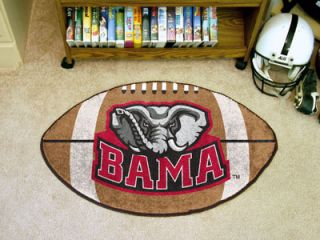 Crimson Tide NCAA 22 x 35 Football Shaped Area Rug Floor Mat