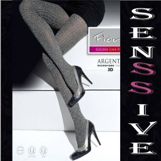 ARGENTA OPAQUE PATTERN WINTER MICROFIBER TIGHTS PANTYHOSE GRAPHITE