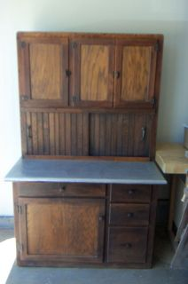 Antique Hoosier Cabinet w Stainless Steel Top Flour Sifter NR U pick