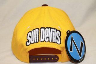 ARIZONA STATE SUN DEVILS NCAA SNAPBACK HAT CAP REFRESH YELLOW/MAROON