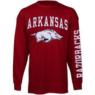 Arkansas Razorbacks Big Arch Logo Long Sleeve T Shirt Cardinal